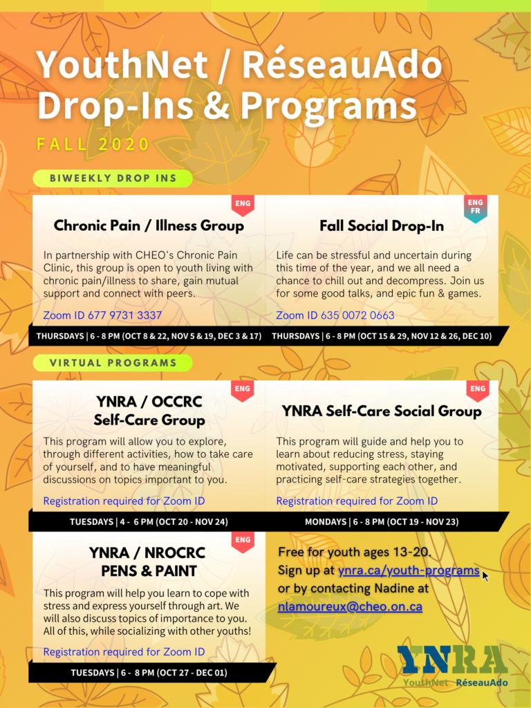 Virtual Groups & Programs (Fall 2020)